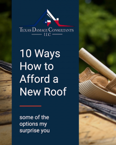 How to afford a new roof infographic.